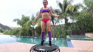 Flexible sportswoman Kimber Woods is ready to get her holes drilled
