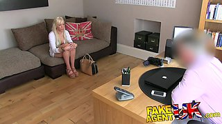 FakeAgentUK: English Blue eyed beauty spoils agents cock