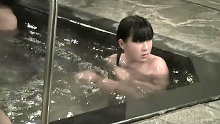 Shy Asian cutie voyeured on cam naked in the pool nri099 00