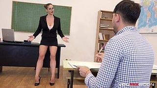 YOUMIXPORN Interactive Busty Teacher Cathy Heaven fucks horny student