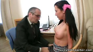 Innocent coed gets brutally fucked by her tutor