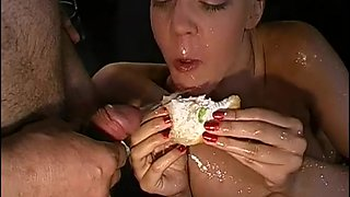 Cum Filled Mouths Overflowing With Piss