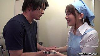 Japanese hidden camera prank featuring nice cleaning girl Yui Hatano