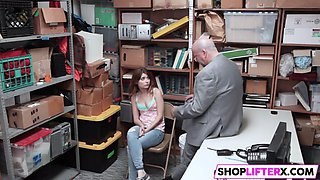 sweety gets punished and father watching