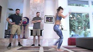 DaughterSwap - Gymnast Dad Fucks Tight Petite Teen