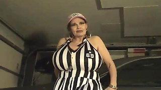 MILF Teddi Barrett in a referee costume (no sound)