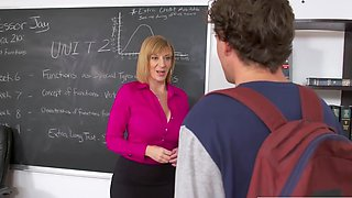 Lustful teacher seduced a student into hot sex in the office...