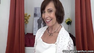 Old Granny Inke Dildos Her Soaking Wet Cunt