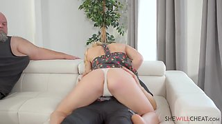 Natalie Knight - Sexy young blonde Natalie Knight fucks BBC in front of her husband - E105