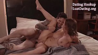 Big Giant Boobs Horny Blonde Milf Alexis Fawx Fucking Hard On Bed