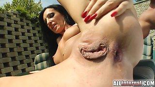 Kinky Alisha Gets Butt Pounded And A Gaping Hole Outdoors