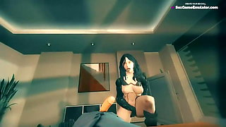 3D Tiny Girl Fucked By Huge White Cock