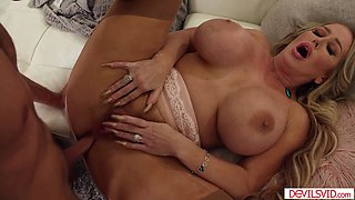 A big tits blonde stepmom ass fucked by her stepson