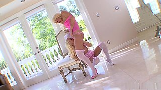 Fabulous pornstars Rhyse Richards and Rhylee Richards in exotic big tits, lesbian sex video