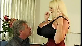 Huge tits babe gets big cock