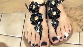Very perverted footjob by my gf