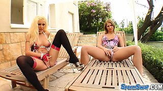 Two hotties get fucked in this Sperm Swap video. They get