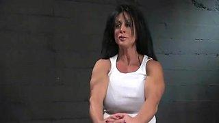 A Musculer Babes InBondage