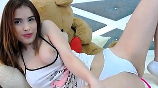 Pussy fingering babe toys ass