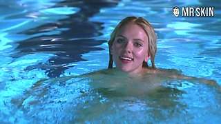 Scarlett Johansson swimming naked in the pool and looking sexy as hell