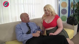 Fattie blonde with huge ass fucked