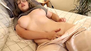 Hot Busty Blonde Masturbates to Orgasm