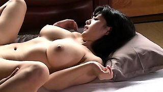 Horny Japanese mom with big natural boobs loves hardcore sex