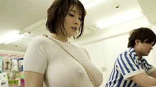 Stacked Asian milf seduces a guy to satisfy her sexual needs