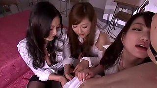 Exotic Japanese slut Risa Murakami, Akari Hoshino, Leila Aisaki in Crazy Fingering, Cougar JAV scene