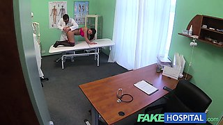 Fake Hospital Doctors magic cock produces vocal orgasm