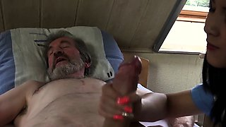 Private horny nurse fuck treatment for sick old patient