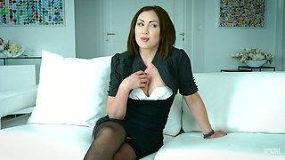 Amazing horny interview with flirty sexy porn actress Yasmin Scott