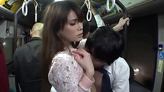 Japanese Sexy Hot Pose Fuck on Bus