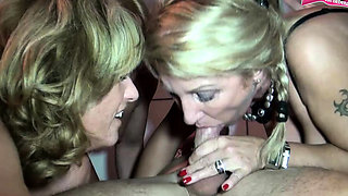 German amateur reverse mature mom gangbang