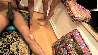 Petite girl gets cumshot Hot arab gals attempt foursome