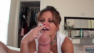 terri smoking handjob