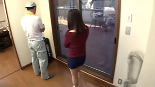 Japanese Cheating Wife Fucked By Constructor Near Hubby