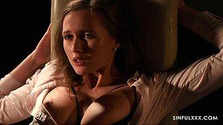 Beautiful and passionate erotic scene in the dim light