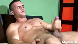 College Dudes - Mark Marin busts a nut