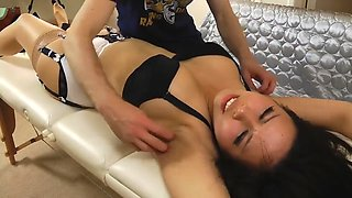 Tigerr on the massage table