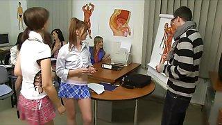 CFNM orgy with a Anatomy Teacher