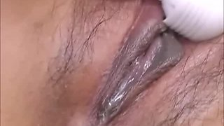 Wet And Messy Asian BDSM Hairy Pussy Play
