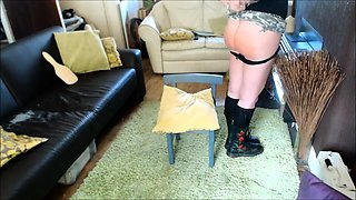 Delightful amateur teen gets her fabulous ass spanked hard