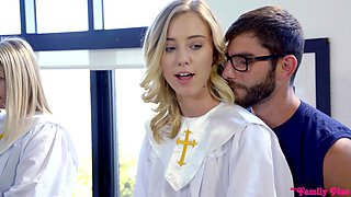 Fucked in church by two horny men