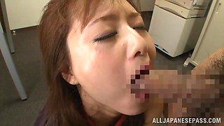 Akiho Yoshizawa getting fucked at the office