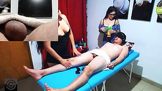 Cfnm femdom amateur party group