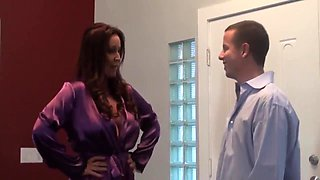 Rachel Steele gives her son a surprise by letting me creampie her multiple times