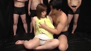 An Kitajima UNCENSORED gangbang Part 1 - Watch Part 2 on bigtittyvideos.com