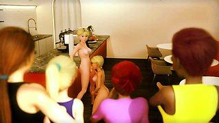 FUTANARI Family XXX Movie Night - 3D Sex Animation ENGDubbed