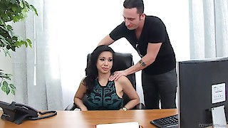 Pussy popping my hot boss Kimmy Lee